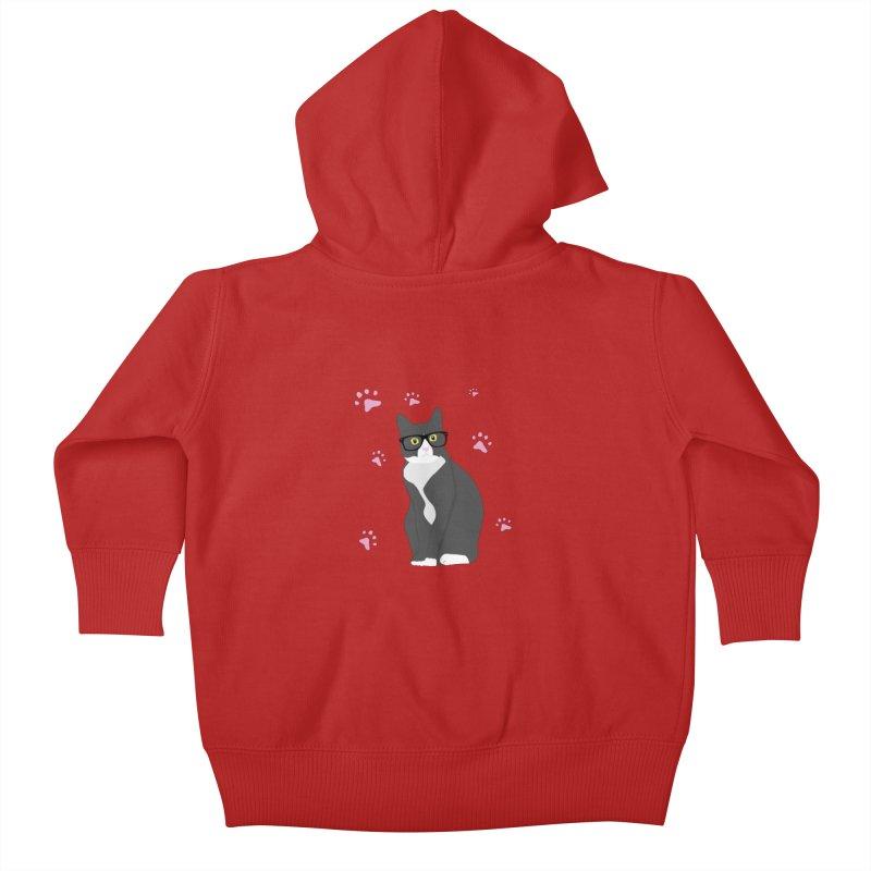 C is for Cat Kids Baby Zip-Up Hoody by Boshik's Tshirt Shop