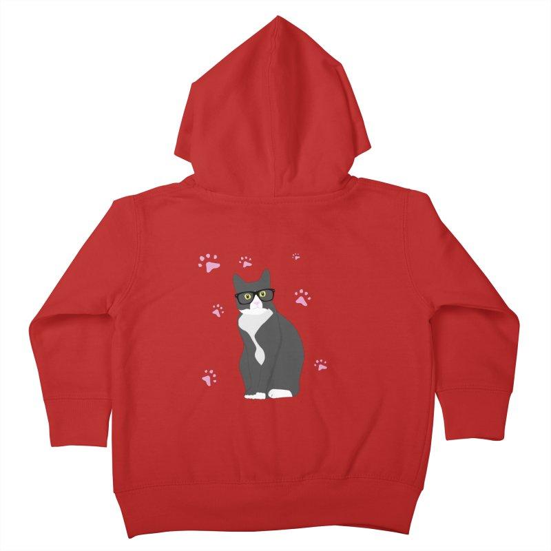 C is for Cat Kids Toddler Zip-Up Hoody by Boshik's Tshirt Shop