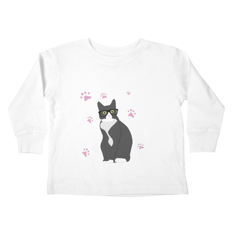 C is for Cat Kids Toddler Longsleeve T-Shirt by Boshik's Tshirt Shop