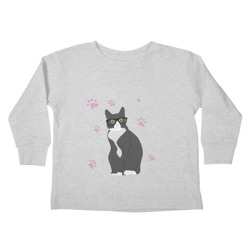 C is for Cat Kids Toddler Longsleeve T-Shirt by Boshik's Tshirt Shop