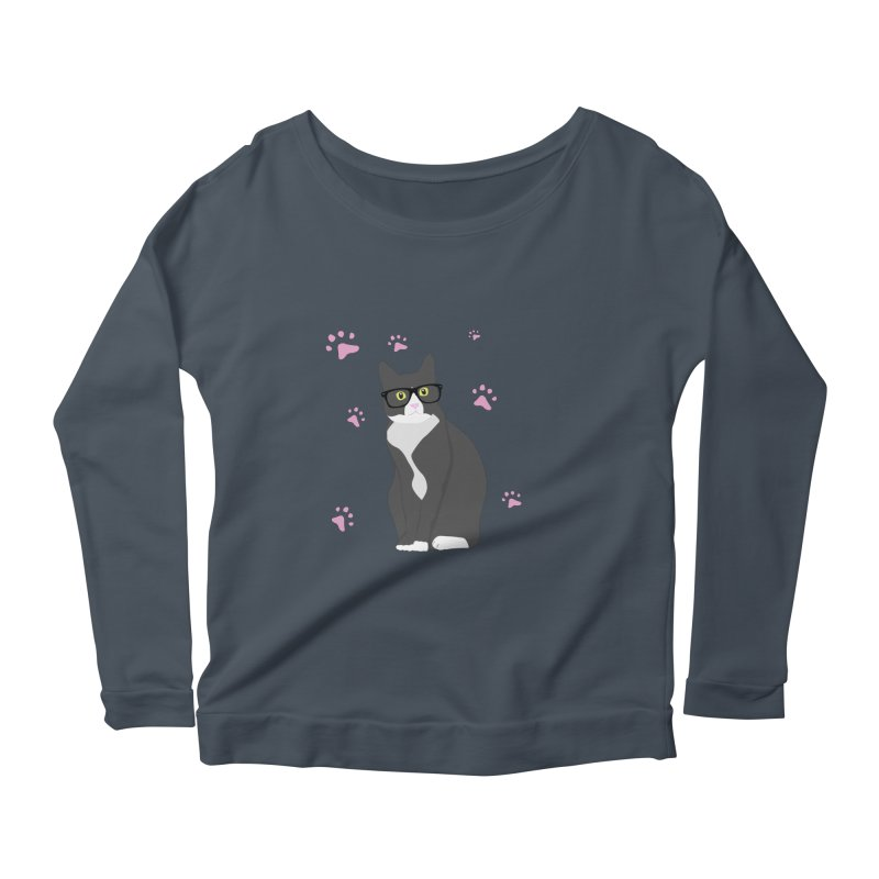 C is for Cat Women's Longsleeve Scoopneck  by Boshik's Tshirt Shop