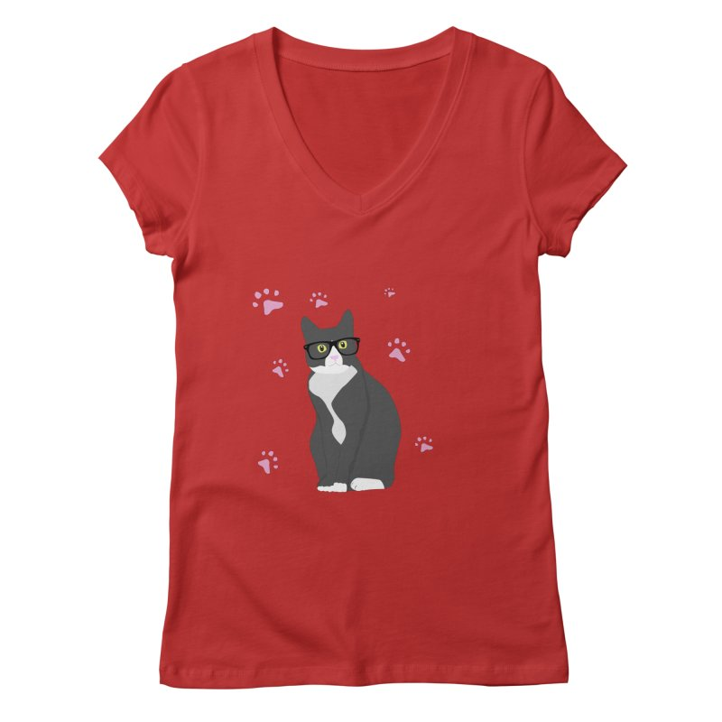 C is for Cat Women's V-Neck by Boshik's Tshirt Shop