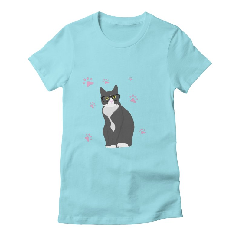 C is for Cat Women's Fitted T-Shirt by Boshik's Tshirt Shop