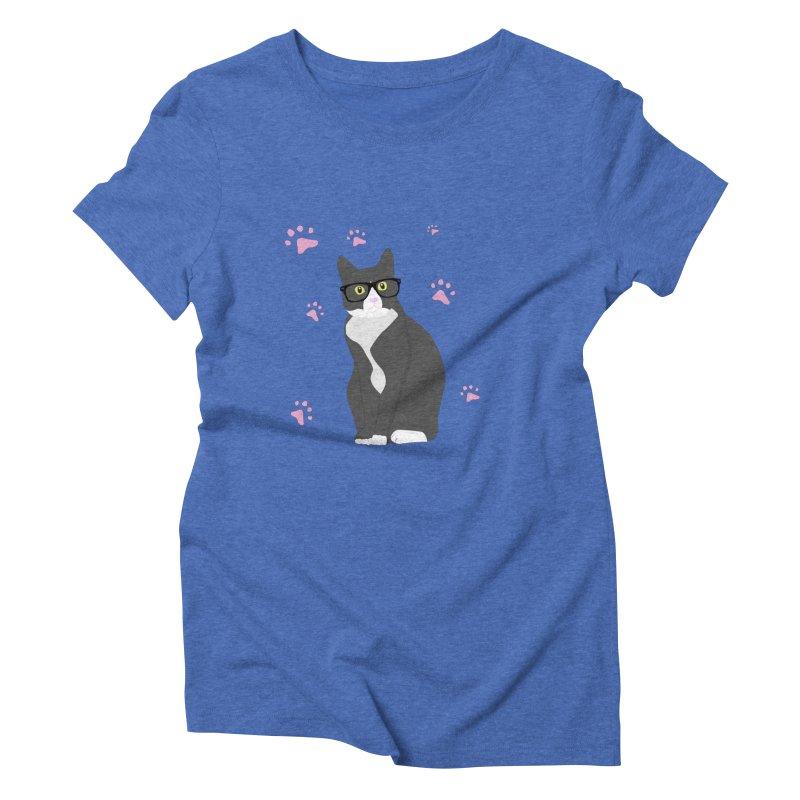 C is for Cat Women's Triblend T-shirt by Boshik's Tshirt Shop