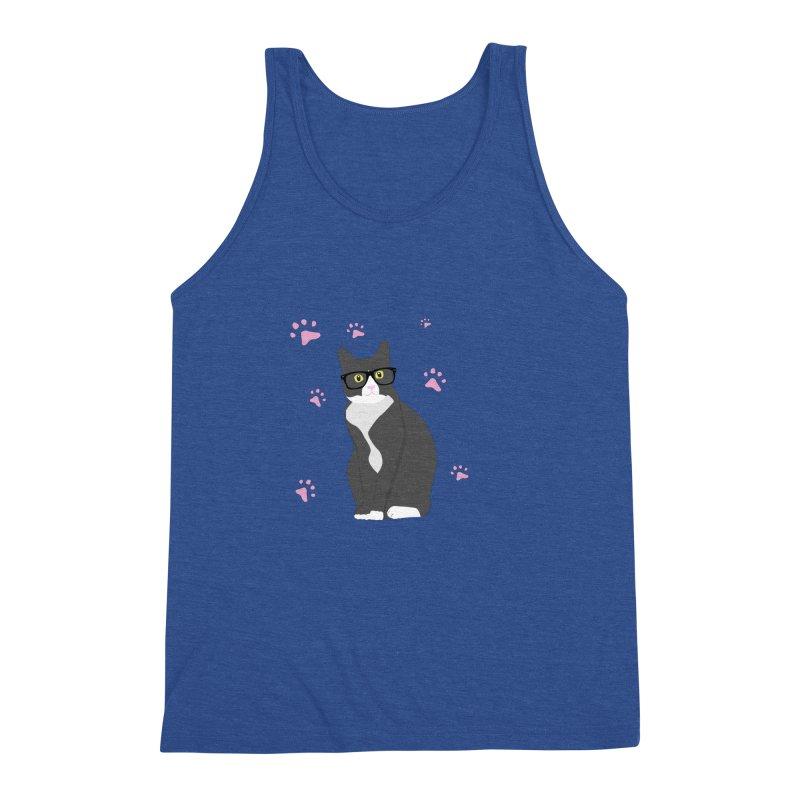 C is for Cat Men's Triblend Tank by Boshik's Tshirt Shop