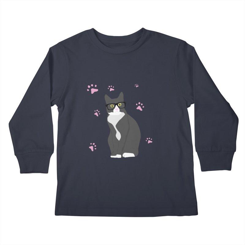 C is for Cat Kids Longsleeve T-Shirt by Boshik's Tshirt Shop