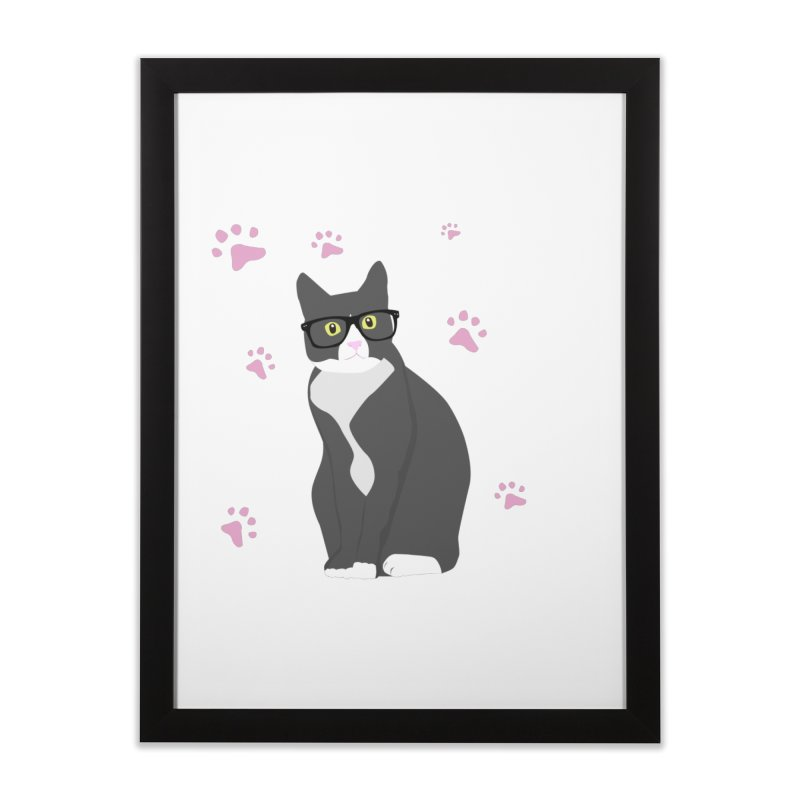 C is for Cat Home Framed Fine Art Print by Boshik's Tshirt Shop