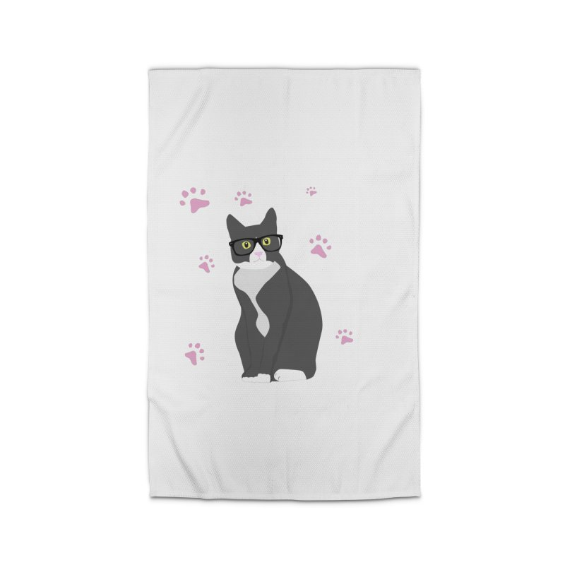 C is for Cat Home Rug by Boshik's Tshirt Shop