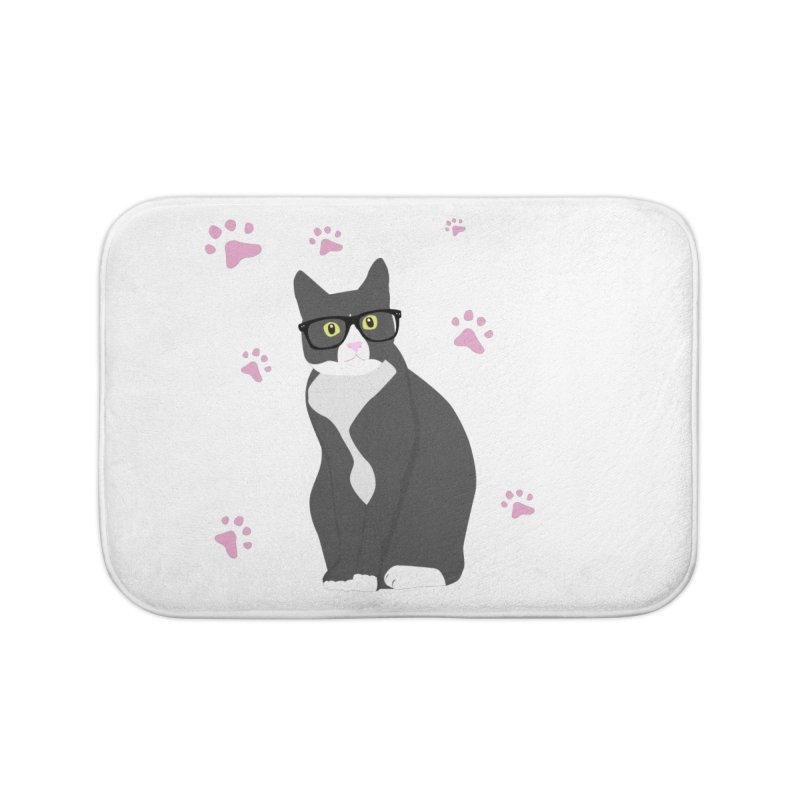C is for Cat Home Bath Mat by Boshik's Tshirt Shop