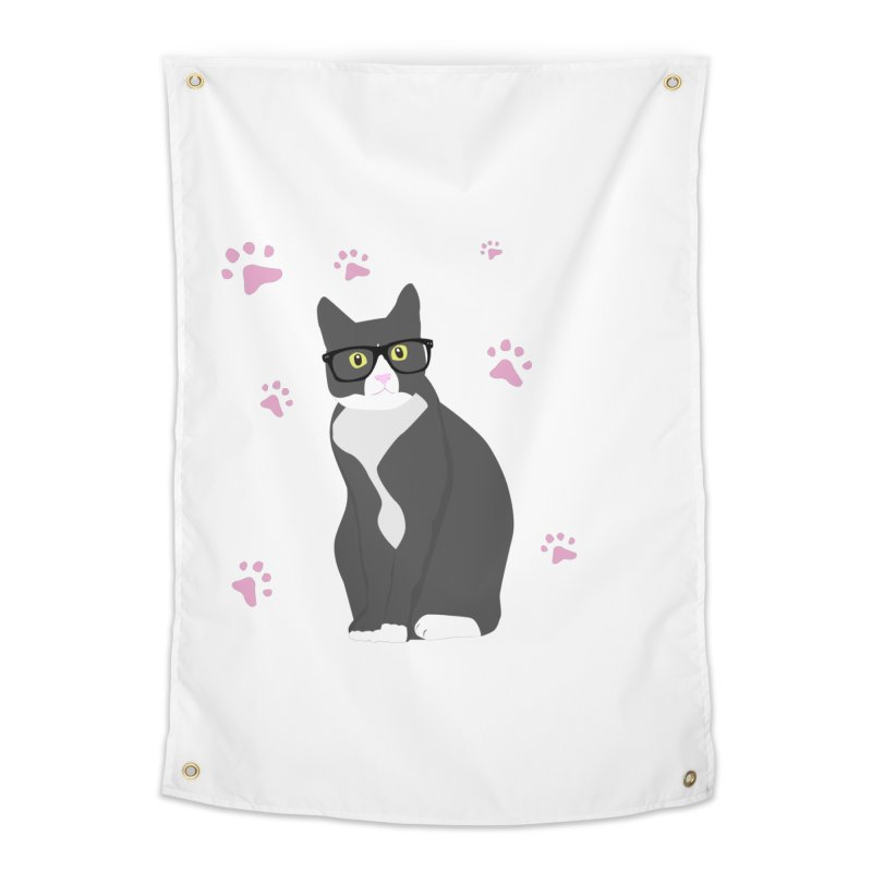 C is for Cat Home Tapestry by Boshik's Tshirt Shop