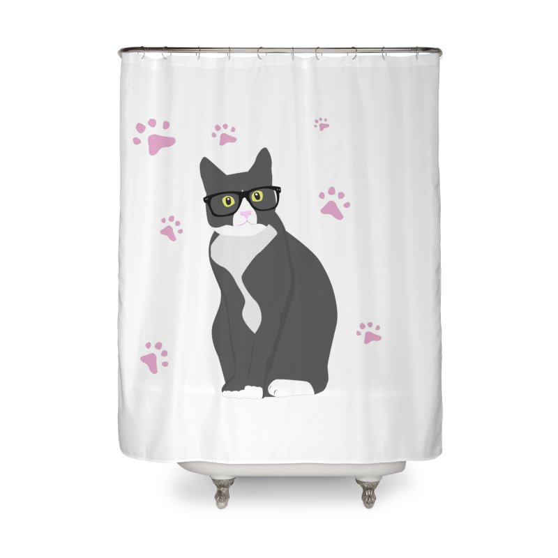 C is for Cat Home Shower Curtain by Boshik's Tshirt Shop