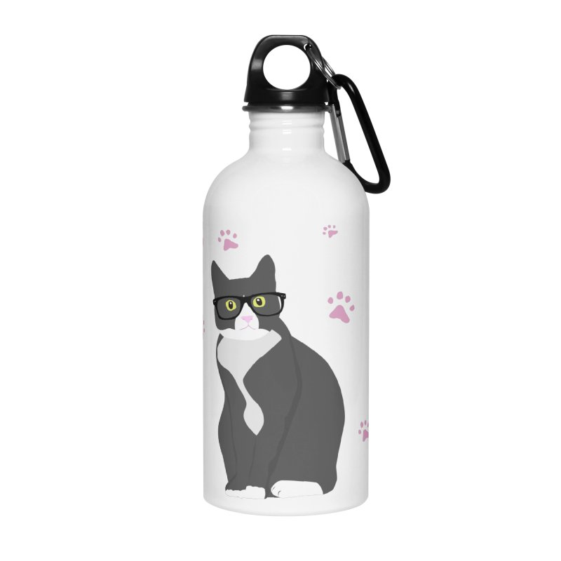 C is for Cat Accessories Water Bottle by Boshik's Tshirt Shop