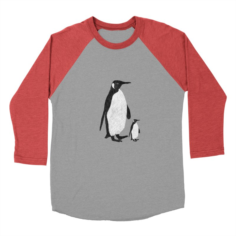 Penguins Women's Baseball Triblend T-Shirt by Boshik's Tshirt Shop