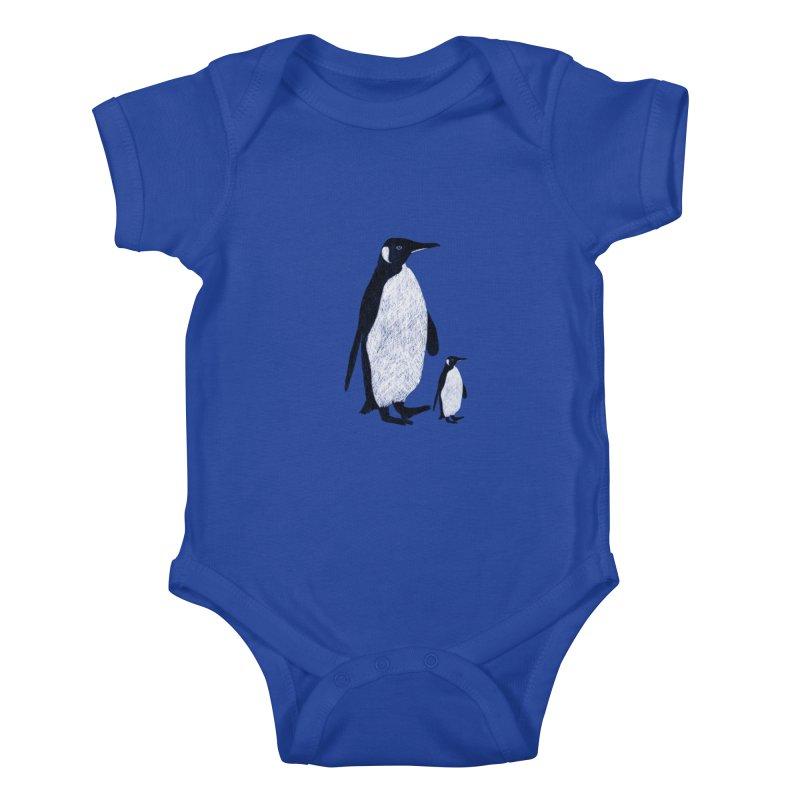 Penguins Kids Baby Bodysuit by Boshik's Tshirt Shop