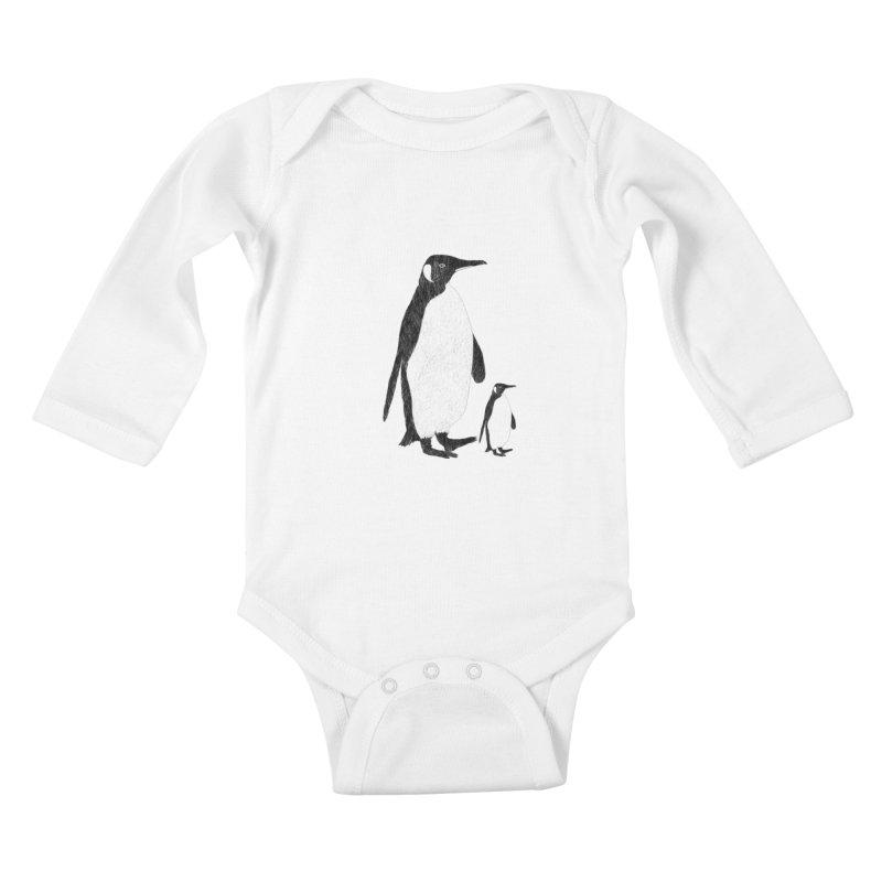 Penguins Kids Baby Longsleeve Bodysuit by Boshik's Tshirt Shop