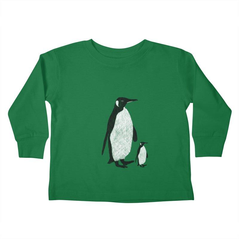 Penguins Kids Toddler Longsleeve T-Shirt by Boshik's Tshirt Shop