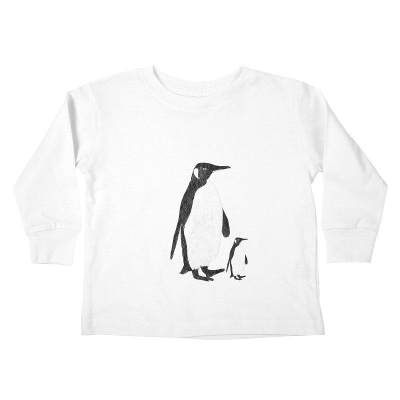 Penguins Kids Toddler Longsleeve T-Shirt by Boshik's Tshirt Shop