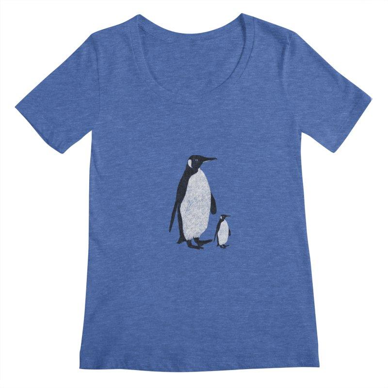 Penguins Women's Scoopneck by Boshik's Tshirt Shop