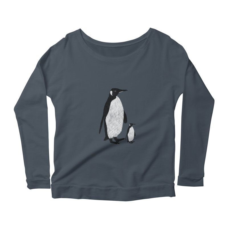 Penguins Women's Longsleeve Scoopneck  by Boshik's Tshirt Shop