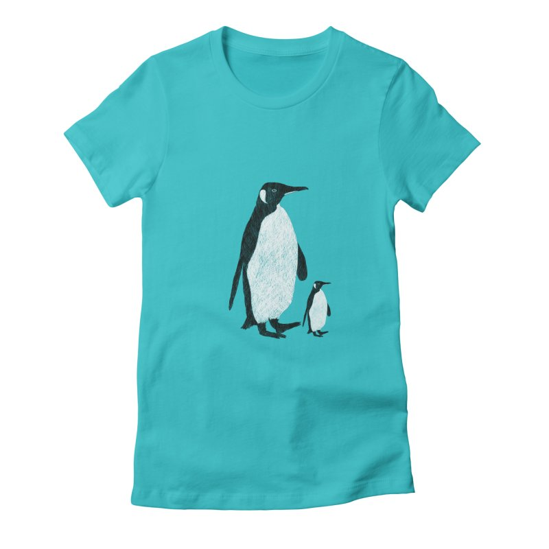 Penguins Women's Fitted T-Shirt by Boshik's Tshirt Shop