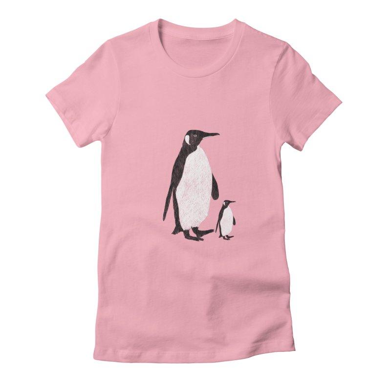 Penguins Women's Fitted T-Shirt by Boshik's Tshirt Shop