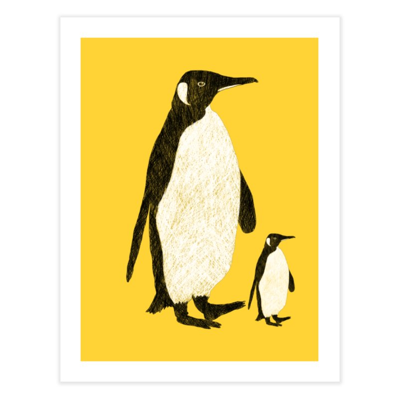 Penguins Home Fine Art Print by Boshik's Tshirt Shop