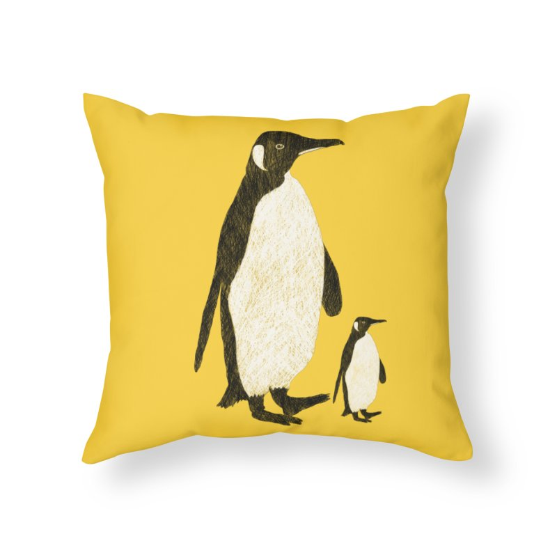Penguins Home Throw Pillow by Boshik's Tshirt Shop