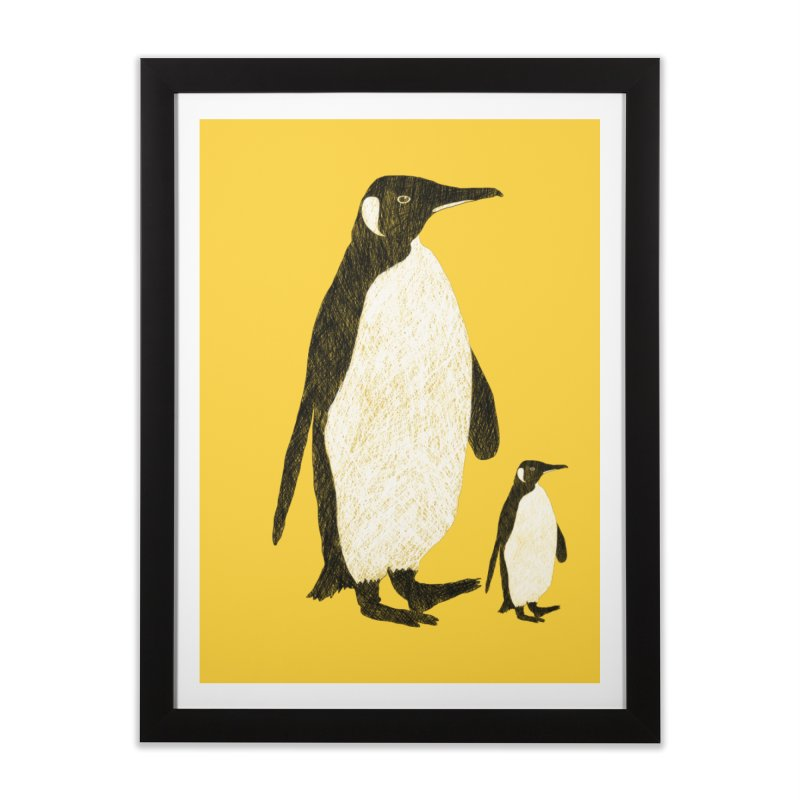 Penguins Home Framed Fine Art Print by Boshik's Tshirt Shop