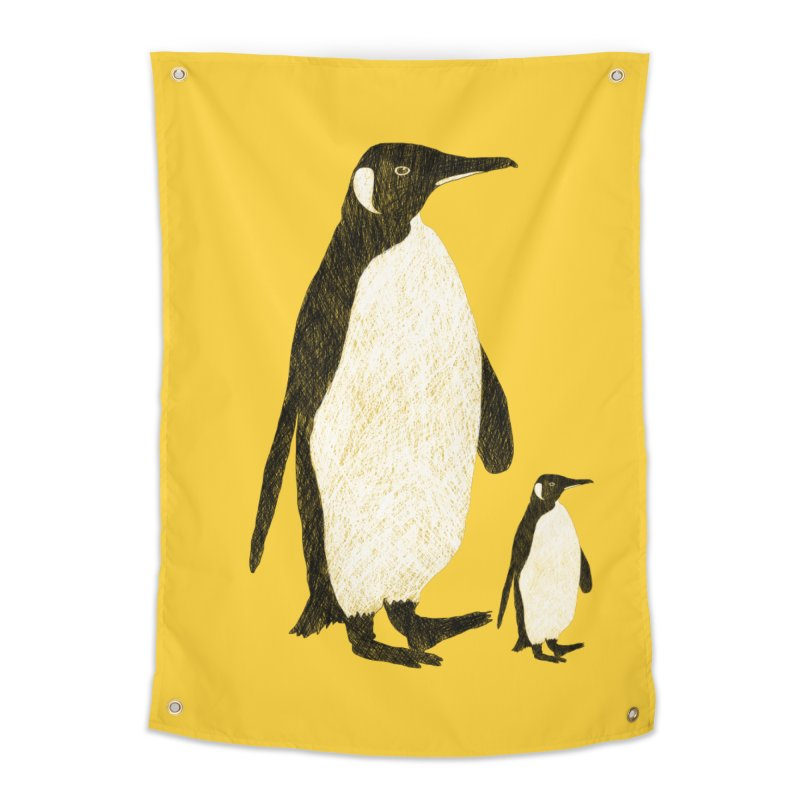 Penguins Home Tapestry by Boshik's Tshirt Shop