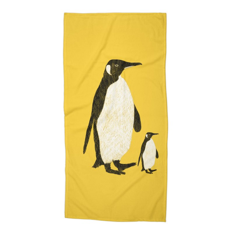 Penguins Accessories Beach Towel by Boshik's Tshirt Shop