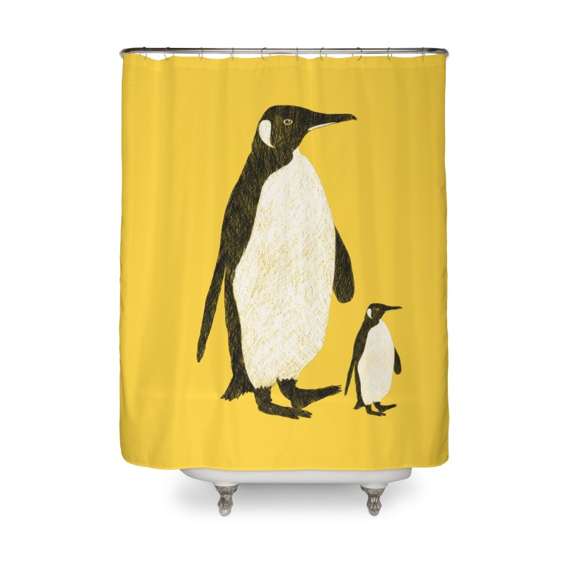 Penguins Home Shower Curtain by Boshik's Tshirt Shop