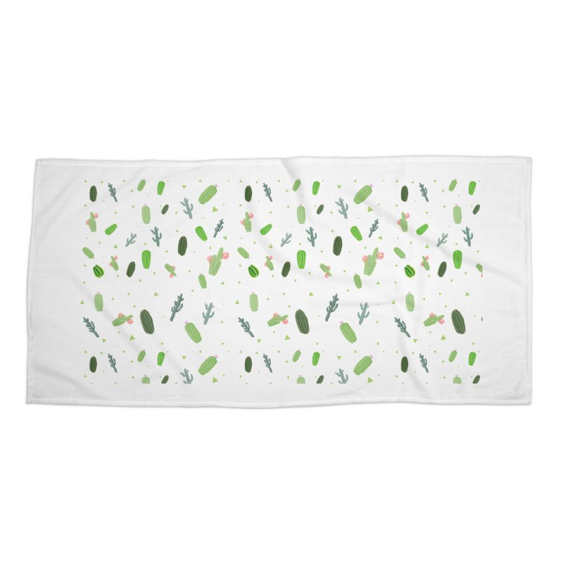 Desert Flower Accessories Beach Towel by Boshik's Tshirt Shop