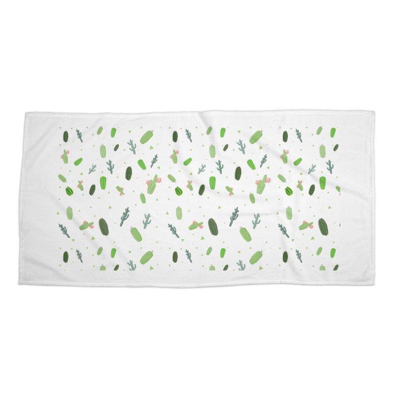 Desert Flower Accessories Beach Towel by Boshik's Tshirt Shop
