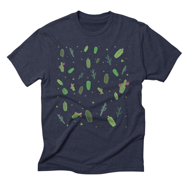 Desert Flower Men's Triblend T-Shirt by Boshik's Tshirt Shop
