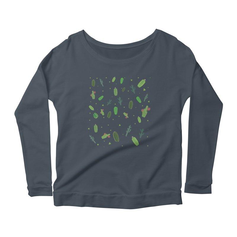 Desert Flower Women's Scoop Neck Longsleeve T-Shirt by Boshik's Tshirt Shop