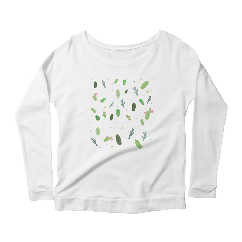 Desert Flower Women's Longsleeve Scoopneck  by Boshik's Tshirt Shop