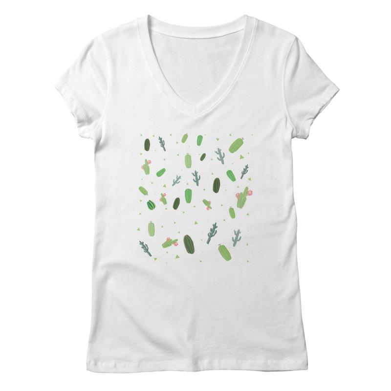 Desert Flower Women's V-Neck by Boshik's Tshirt Shop