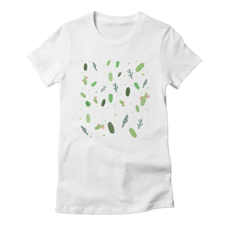 Desert Flower Women's Fitted T-Shirt by Boshik's Tshirt Shop