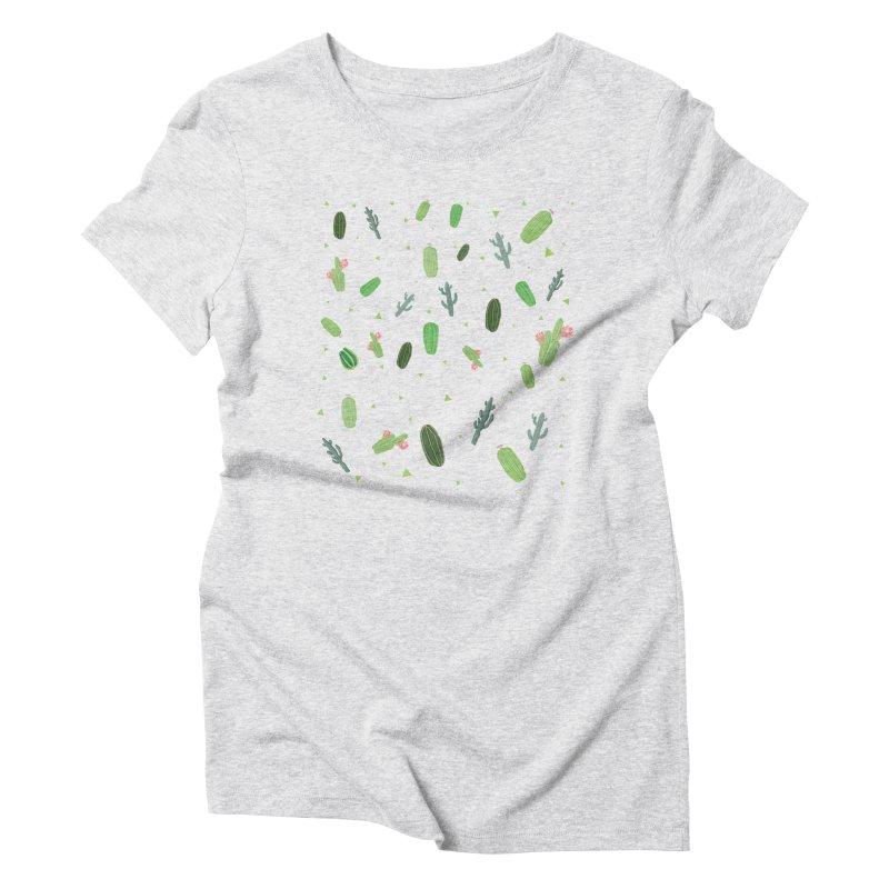 Desert Flower Women's Triblend T-Shirt by Boshik's Tshirt Shop