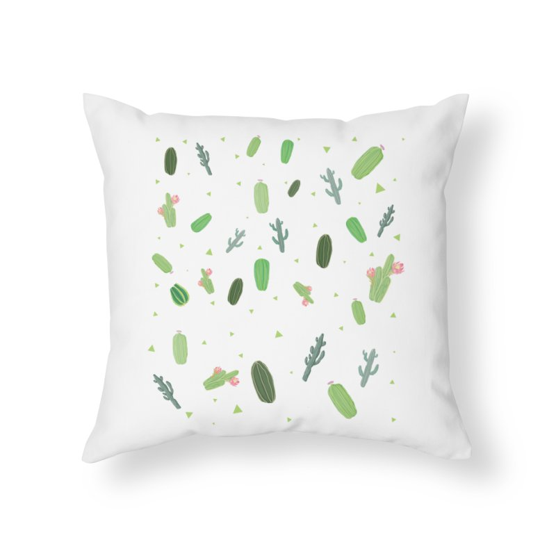 Desert Flower Home Throw Pillow by Boshik's Tshirt Shop
