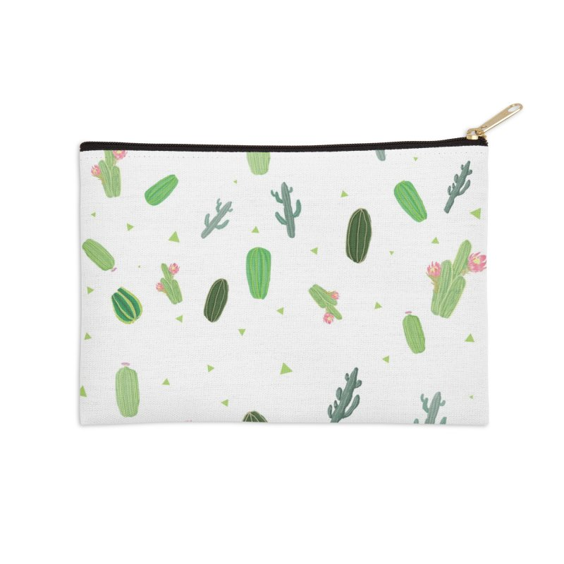 Desert Flower Accessories Zip Pouch by Boshik's Tshirt Shop