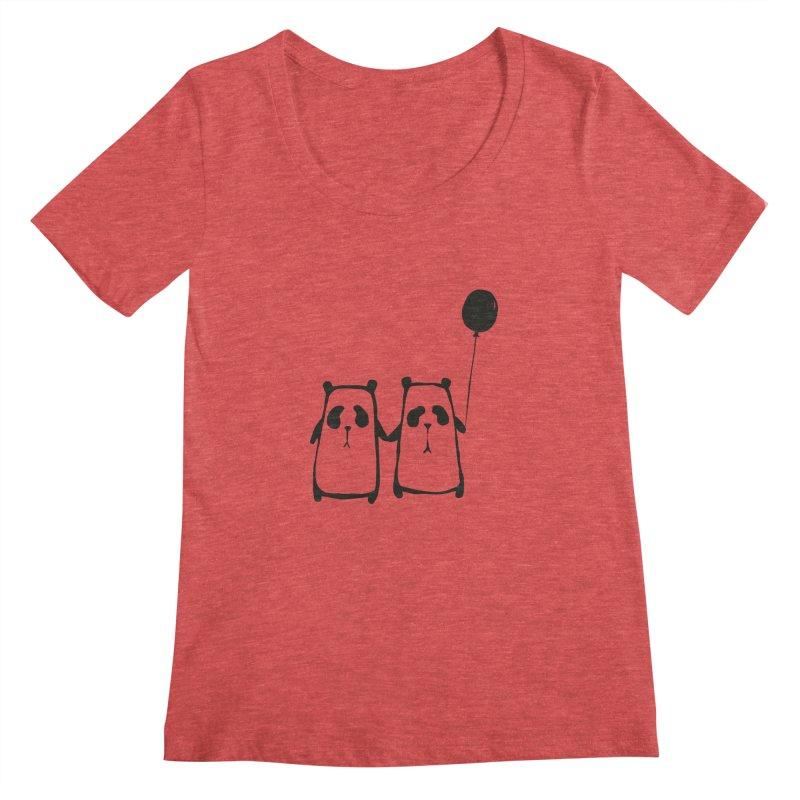 Friends 4 ever Women's Scoopneck by Boshik's Tshirt Shop
