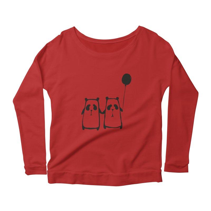 Friends 4 ever Women's Longsleeve Scoopneck  by Boshik's Tshirt Shop