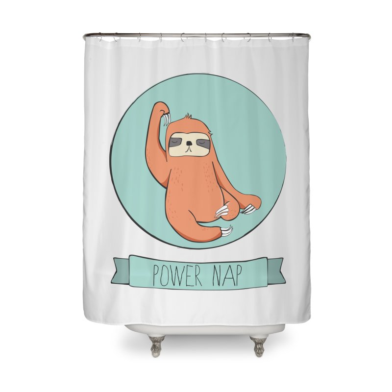 Power Nap Home Shower Curtain by Boshik's Tshirt Shop