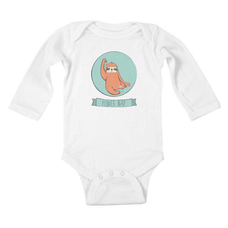 Power Nap Kids Baby Longsleeve Bodysuit by Boshik's Tshirt Shop