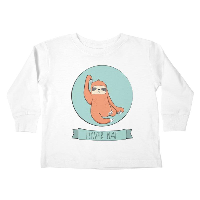 Power Nap Kids Toddler Longsleeve T-Shirt by Boshik's Tshirt Shop