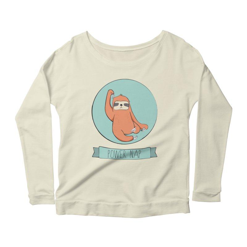 Power Nap Women's Scoop Neck Longsleeve T-Shirt by Boshik's Tshirt Shop