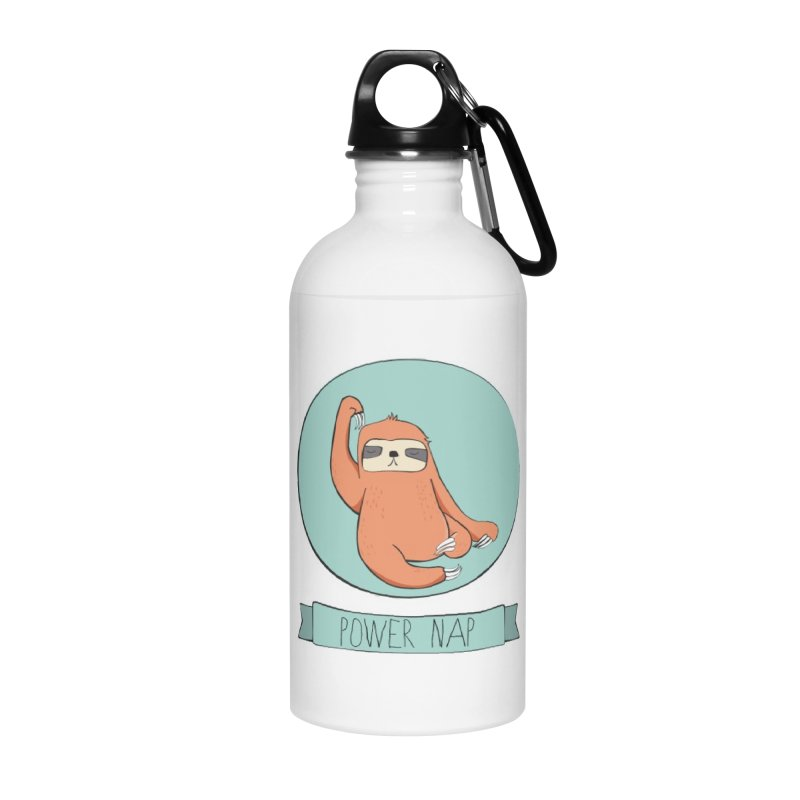 Power Nap Accessories Water Bottle by Boshik's Tshirt Shop