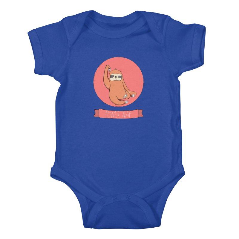 Power Nap- Red Kids Baby Bodysuit by Boshik's Tshirt Shop