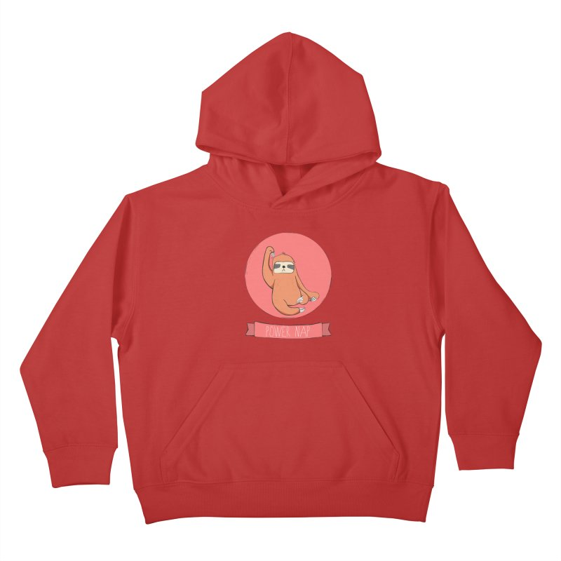 Power Nap- Red Kids Pullover Hoody by Boshik's Tshirt Shop